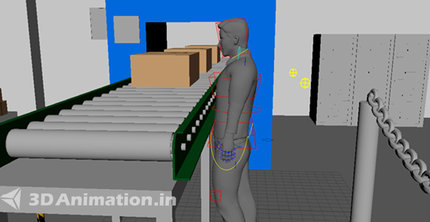 3D Animation of Safety Products & Rigging for 3D Human Characters