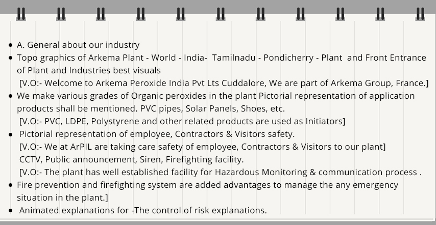 Concept and Scripting of Industrial Safety Animation Video