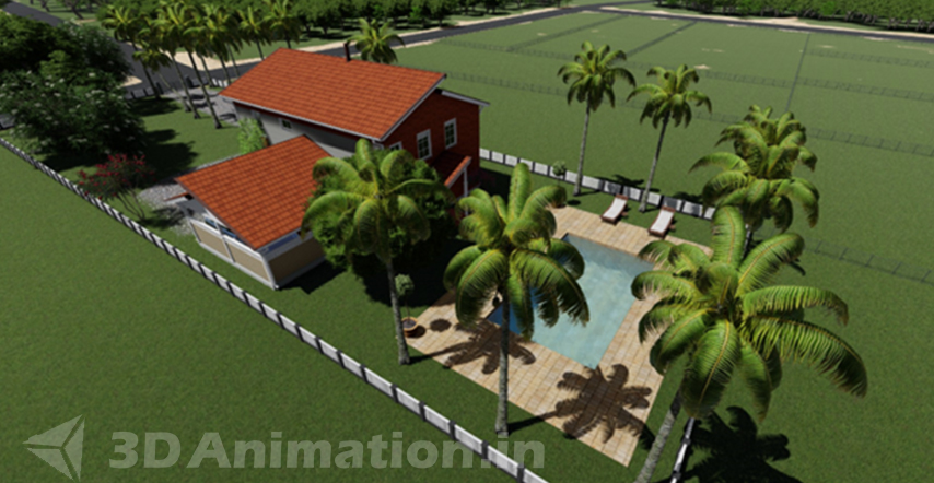 3d architectural visualization modelling stage
