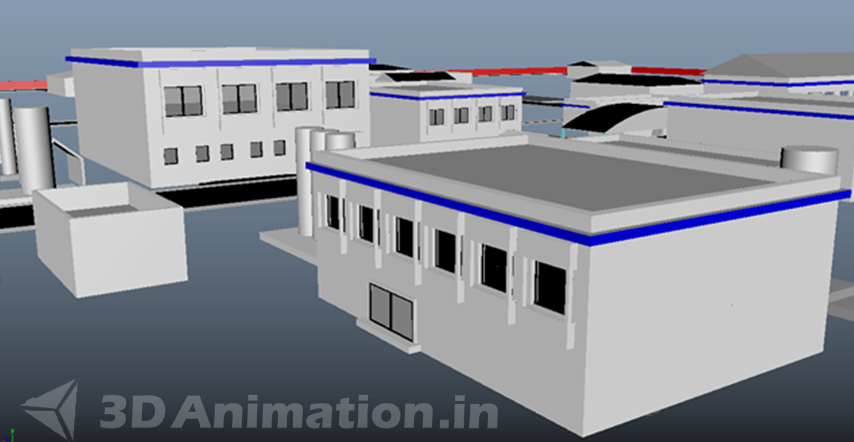Modeling & Texture of Exterior and Interior Factory