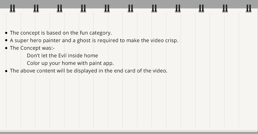 2D Funny Ghost Animated Commercials concept - PaintApp