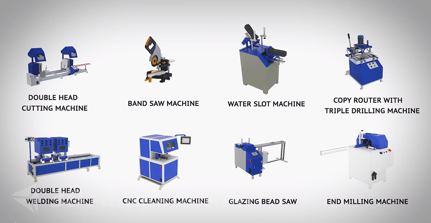 Mechanical and Engineering Animation Video for UPVC Window Machine Manufacturer