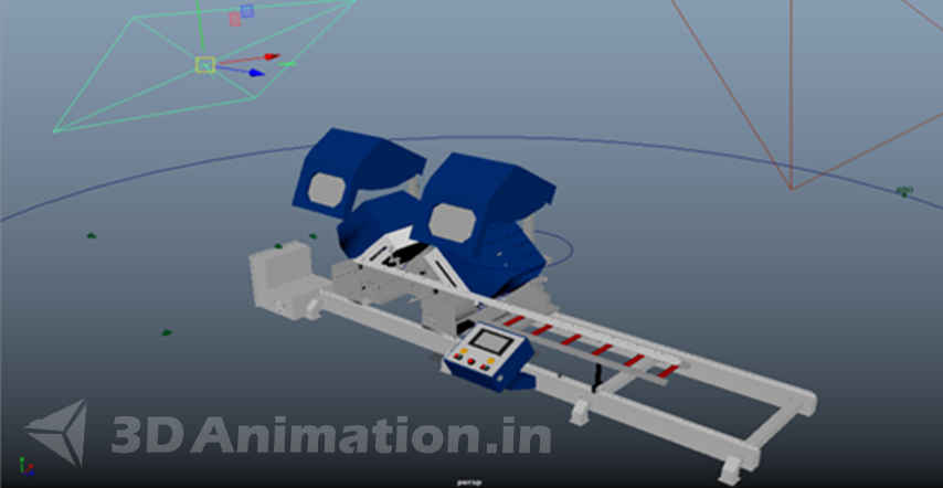 lighting process of Engineering Animation - UPVC
