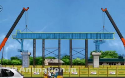 2D Animated safety video explaining how Safety measures are taken for construction sites