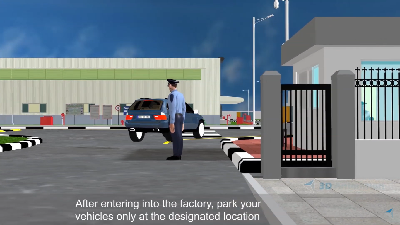 3D Animation & Rigging of Industrial Safety Videos