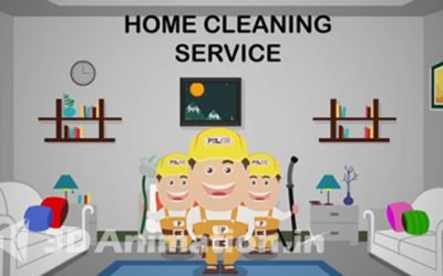 2D Video Animation for Business Explains the Services and Features of Home Cleaning Through App