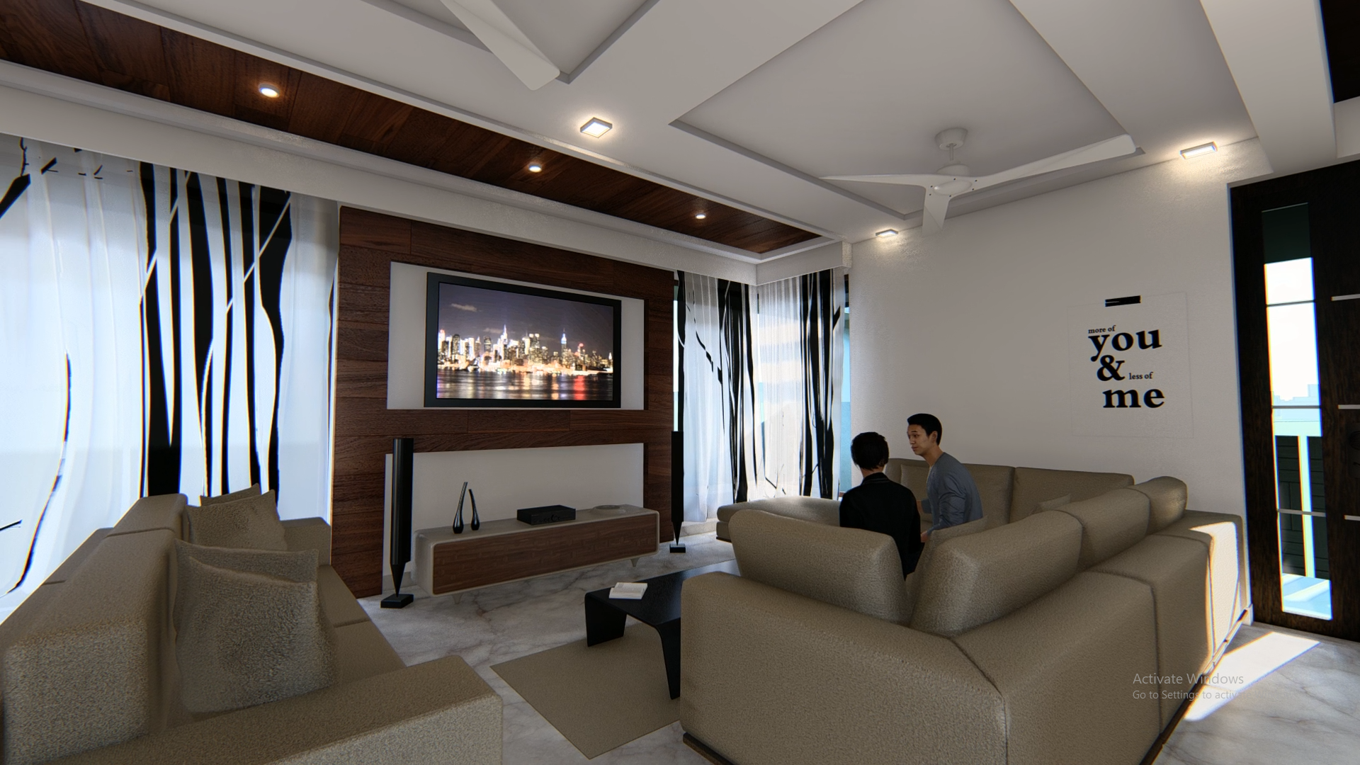 3D modelling interior design