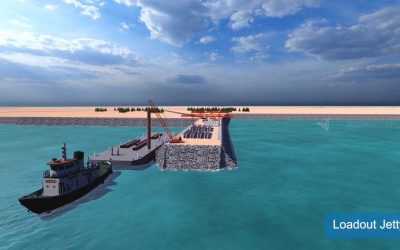 Loadout Jetty Piling Construction and Offshore Piling Architectural Animation Video